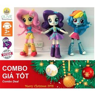 Combo 3 búp bê Pony như hình: RARITY, RAINBOW DASH & FLUTTERSHY