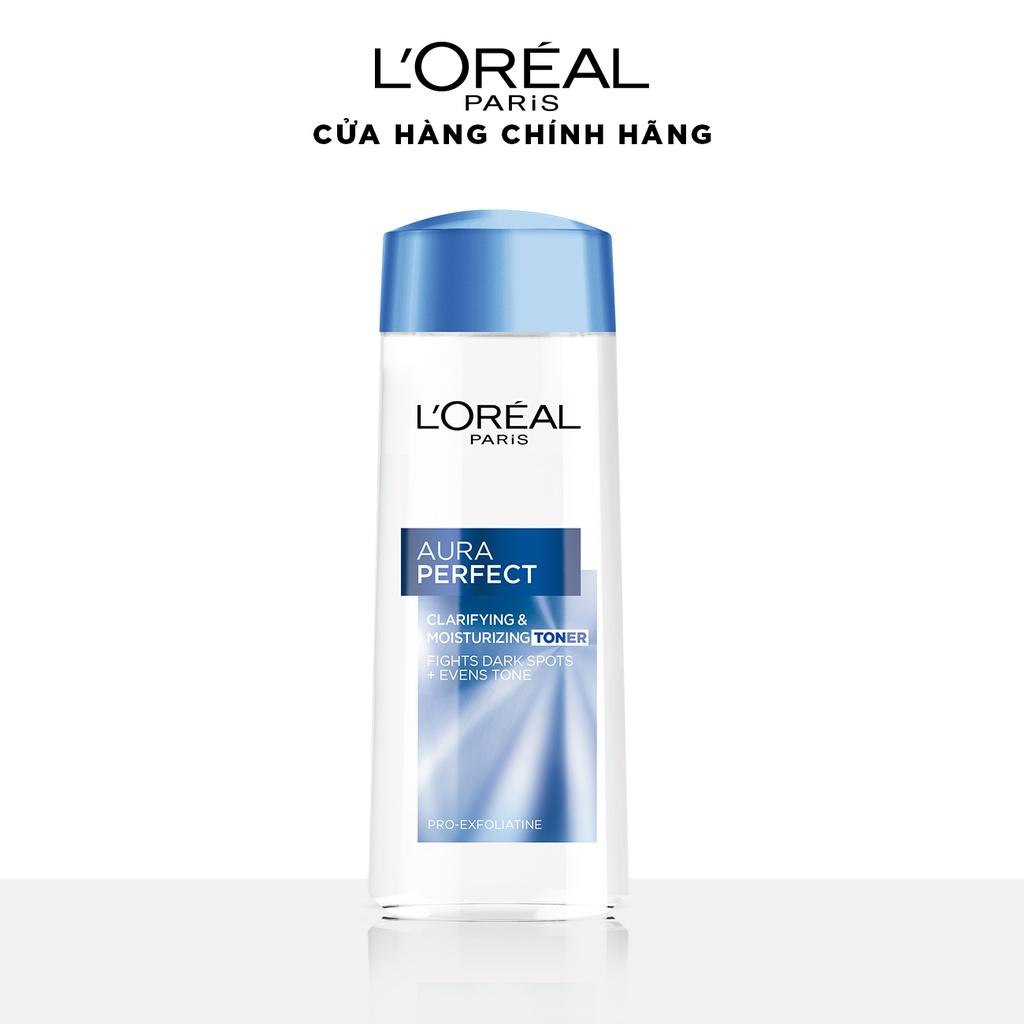 Nước hoa hồng se khít lỗ chân lông và trắng mịn da L'Oreal Paris Aura Perfect 200ml