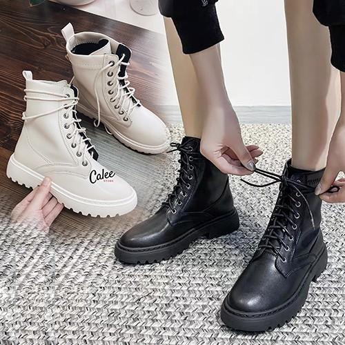 Boots da mềm (CÓ ẢNH THẬT + CLIP SẢN PHẨM) cao cổ nữ, hàng cao cấp fullbox. Giày chất đẹp, có sẵn đủ size chuẩn form