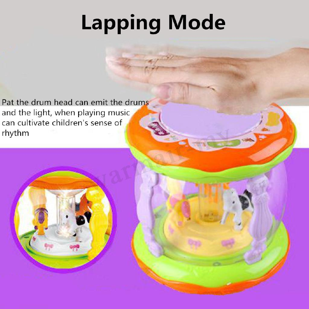 Musical Kids Drum Play Baby Child Lights Music Educational LED Toy Gift