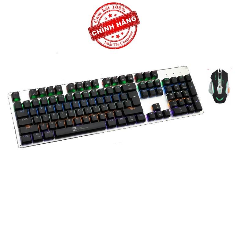 Bộ bàn phím cơ và chuột LED chơi Game R8 G100 - Zerodate G15 (Đen)