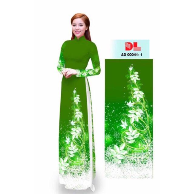 Vải áo dài 3D