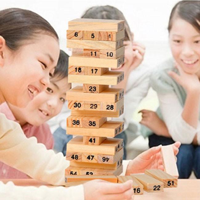 Bộ trò chơi rút gỗ 54 thanh giúp bạn vui vẻ và thư giãn