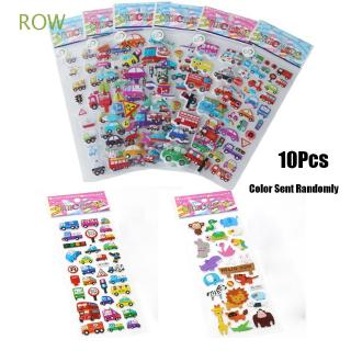 ROW 10pcs Color Randomly Christmas Gift Baby Kids Decorations Classic Toys Scrapbooking Cartoon 3d Sticker