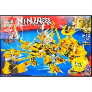 Lego Hjlepin Lắp Ráp Robot Rồng Samurai 2 in 1 ( Vàng ) _ 508 Mảnh