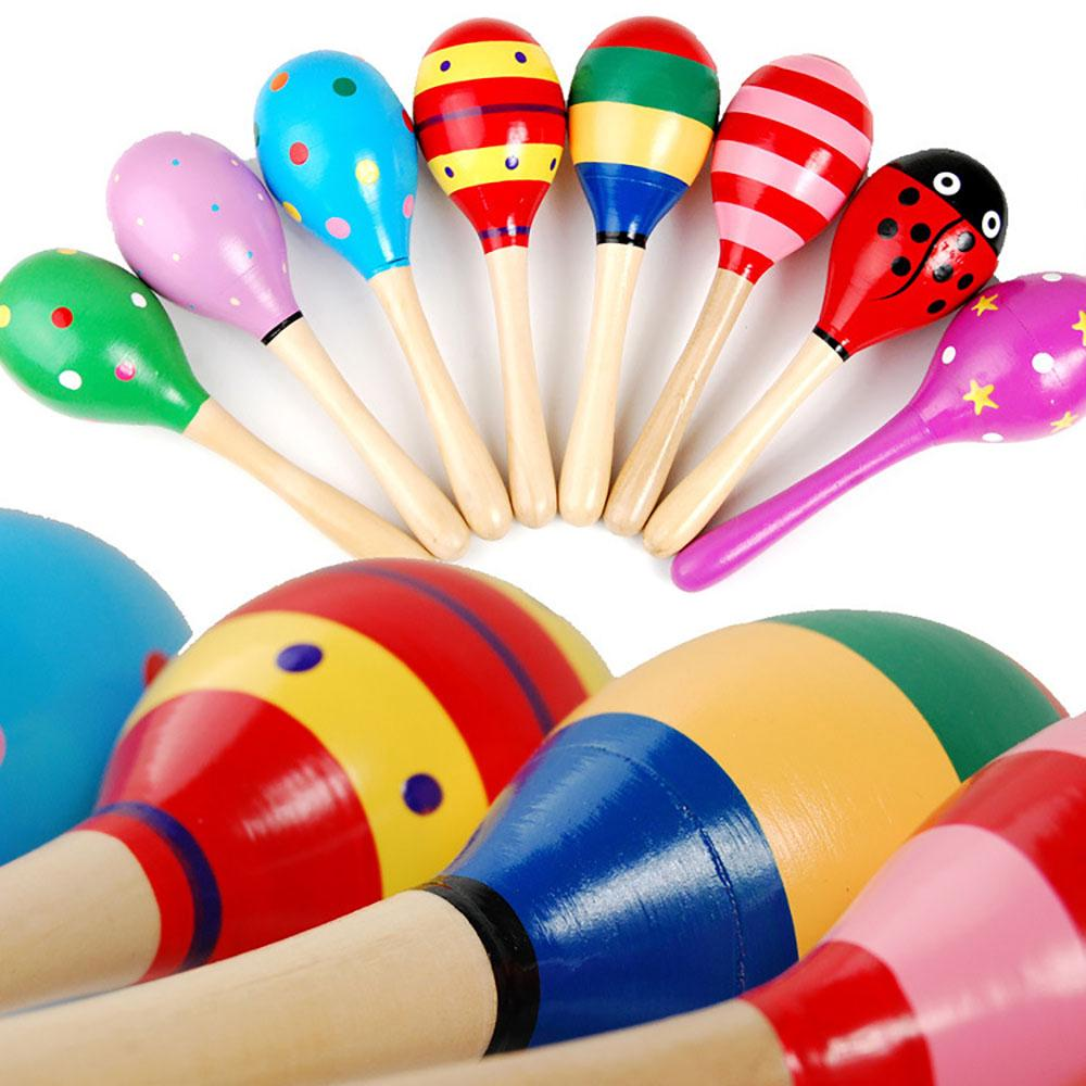 Baby Kid Shaker Sand Hammer Rattles Toy Early Education Tool Musical Instrument