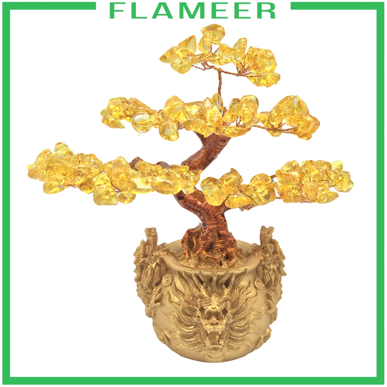 Feng Shui Crystal Money Tree Wealth Luck Tree Office Decoration Ornaments