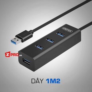 [Mã ELFLASH5 giảm 20K đơn 50K] Bộ chia 4 cổng HUB USB 3.0 Unitek Y-3089, Y-3046