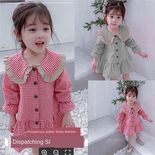 Đầm Công Chúa Kẻ Sọc Kiểu Hàn Quốc Thiết Kế Xinh Xắn Cho Bé Gái