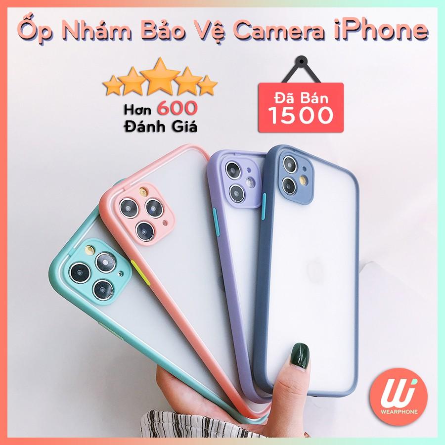 Ốp nhám bảo vệ camera iPhone 7 8 7 Plus 8 Plus X Xs Xr XsMax iPhone 11 11 Pro 11 Promax wearphone 200824