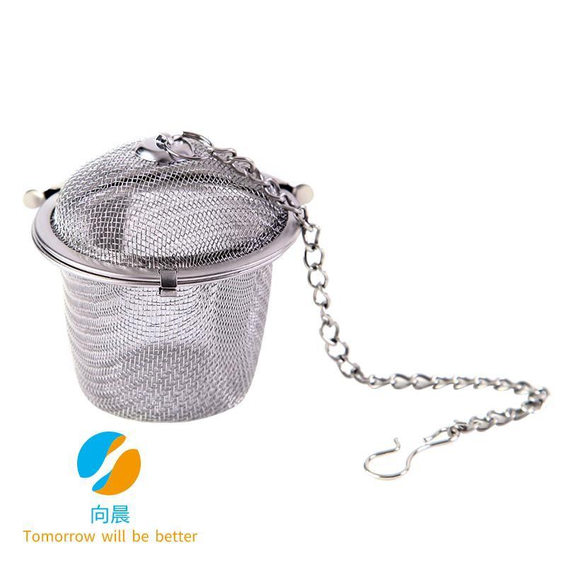 Stainless steel fine mesh filter ball seasoning ball Spice ball halogen ball halogen box Candle ball ball slag ball soup
