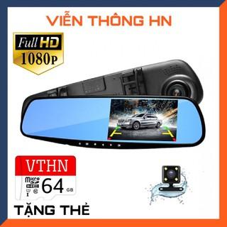 Camera hành trình ô tô xe hơi xe tải oto x700 dạng gương chiếu hậu màn full HD 1080P tích hợp camera sau lùi xe – thẻ 64