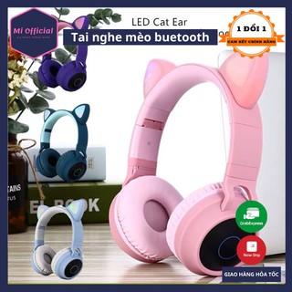 [Hàng loại 1] Tai Nghe Mèo Bluetooth, Headphone Tai Mèo (Có Mic, Bass Và Pin Khủng 400mAh- BH 12 tháng) thumbnail