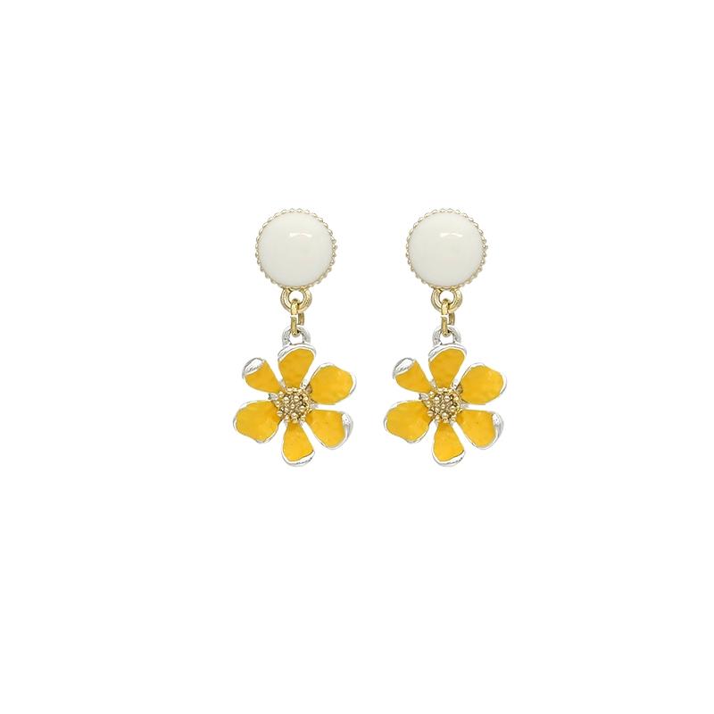 Khuyên tai gắn hình bông hoa dễ thương thời trang cho nữ