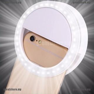 Đèn Led Tròn Gắn Điện Thoại Hỗ Trợ Chụp Ảnh