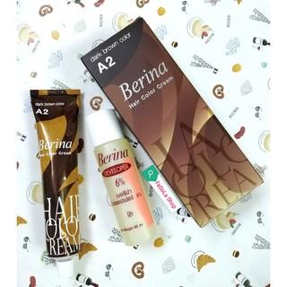 Kem nhuộm tóc BERINA đen A1 nâu đen A2 Thái Lan thumbnail