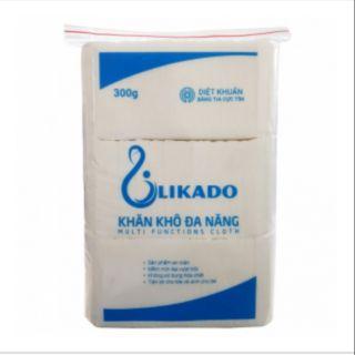Combo 5 bịch khăn khô đa năng LIKADO loại 300g, loại gấp 4 cỡ 14*20cm, 270 tờ 1 bịch