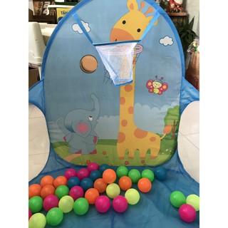 Thanh lý lều bóng màu xanh kèm 50 quả bóng cho bé