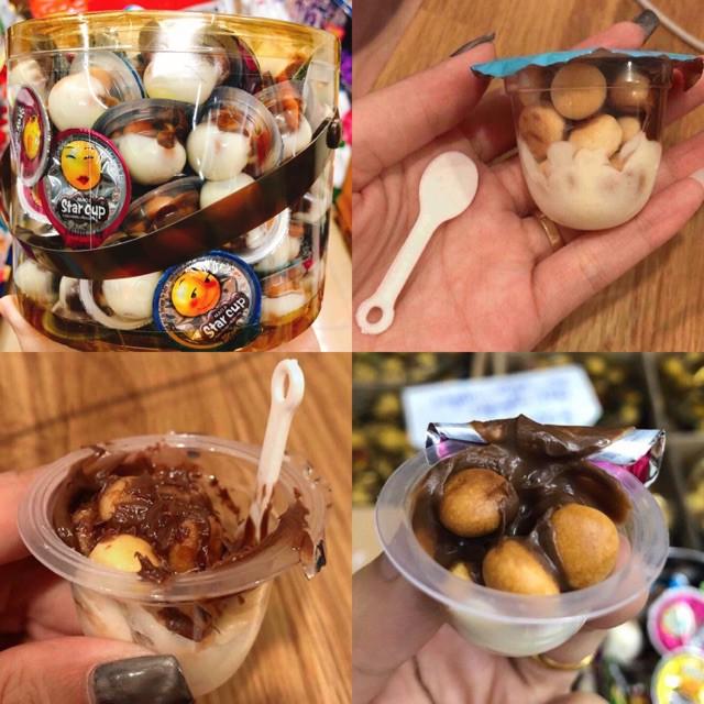 Bánh Quy Viên Kem Socola STAR CUP MaoJi Chocolate + Biscuits - Thái Lan