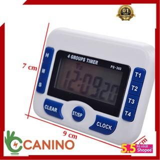 [ GÍA HỦY DIỆT ] Đồng hồ bấm giờ đếm ngược điện tử 4in1 PS-360