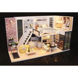 Nhà mô hình lắp ráp ngôi nhà hạnh phúc M038