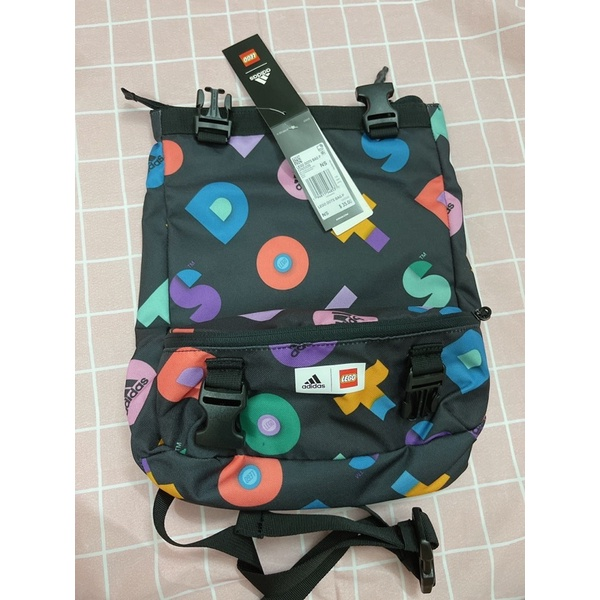 | AUTH + ảnh thật | Balo 2 in 1 ADIDAS LEGO DOTS GRAPHIC CONVERTIBLE BAG.