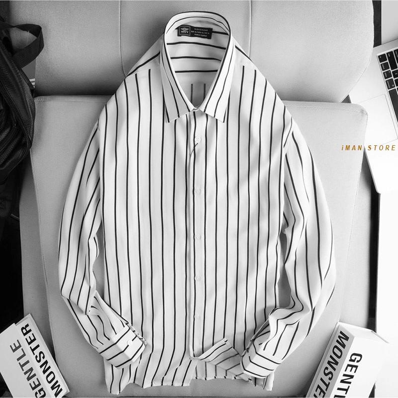 Mặc gì đẹp: Sang trọng với Áo Sơ Mi Nam Kẻ Sọc Dài Tay, Áo Sơ Mi Nam Công Sở Mền Mịn, Bền Đẹp, Thời Trang Cao Cấp
