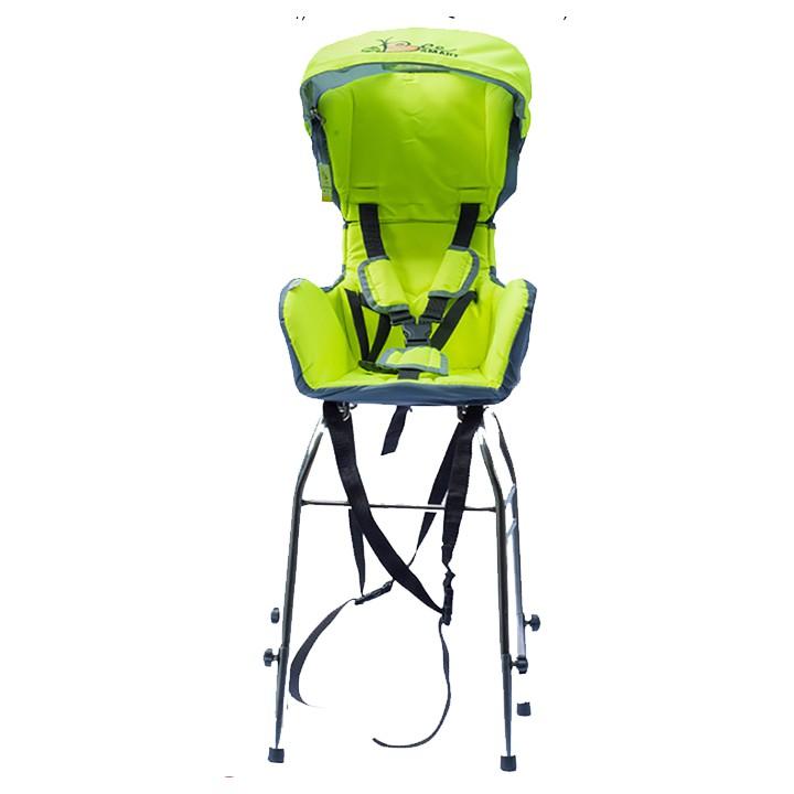 GN06 - (Lắp cho xe tay ga) - Ghế cho bé ngồi xe máy X1 lắp trước - màu xanh lá.