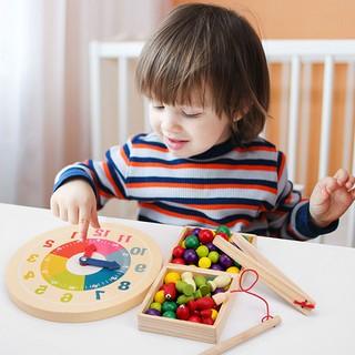 Bộ câu cá đồng hồ kết hợp kẹp hình bóng đồ chơi giáo dục