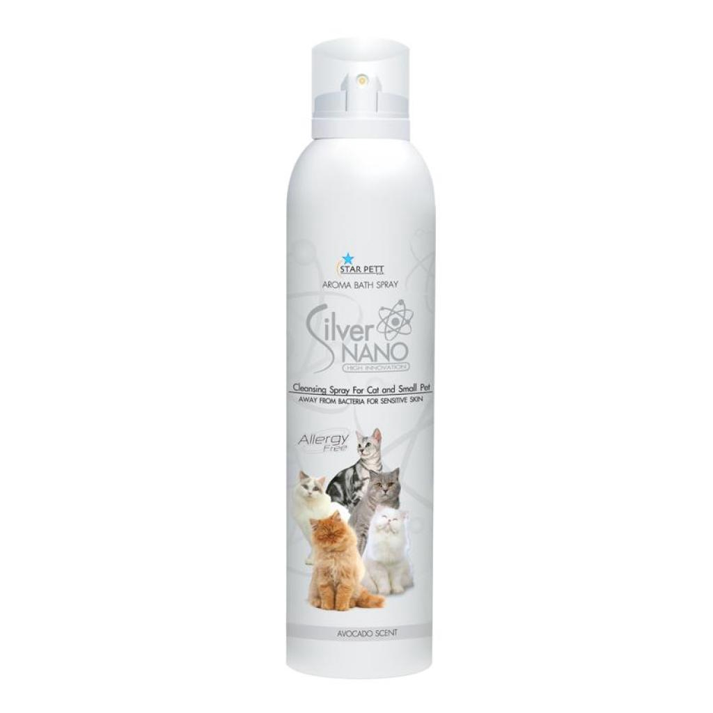 Star Pett Cat แชมพูแมว โฟมอาบแห้งแมว สูตรอ่อนโยน ลดกลิ่นตัว บำรุงผิวหนัง สำหรับแมวและล็ก (200 มลัตว์เลี้ยง Star Pett Cat