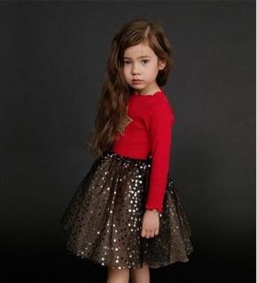 Váy len voan sao lấp lánh cực xinh (3 màu)