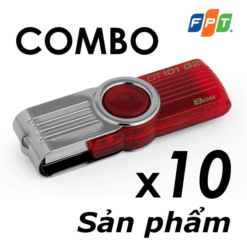 Bộ 10 USB 8GB Kingston DT101 G2 (Đỏ) - Hãng phân phối chính thức