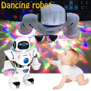 LED Light Music Dancing Electric Robot Toy for Kids
