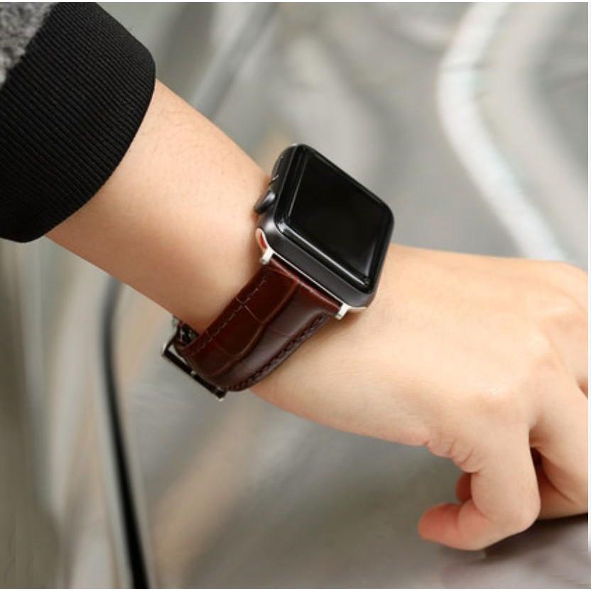 Dây đeo đồng hồ APPLE WATCH - TSPOWER - Dây da cao cấp cho S1/S2/