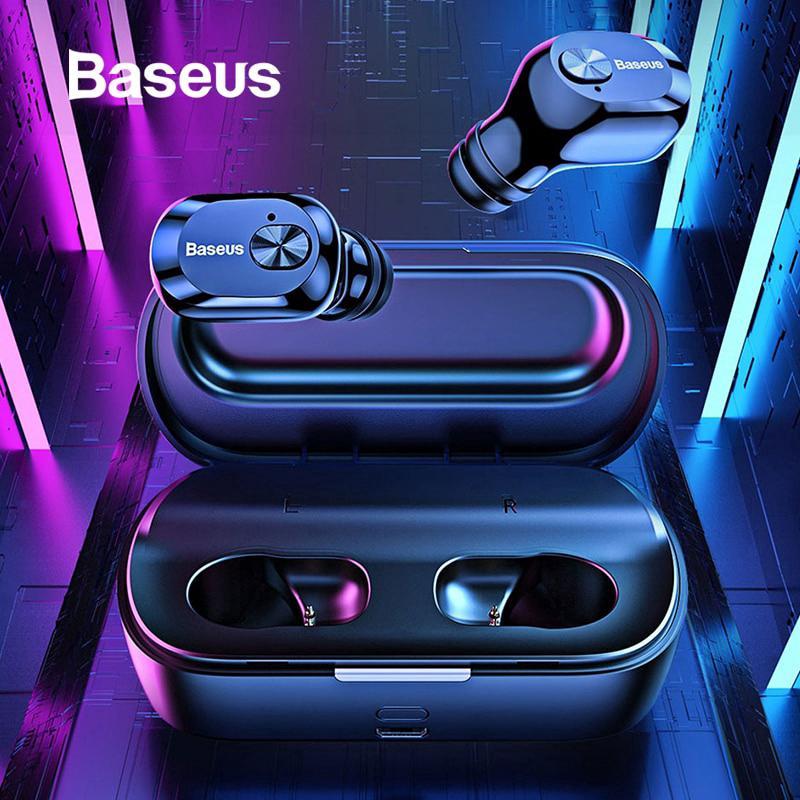 Tai nghe Bluetooth không dây Baseus w01 TWS kèm mic dành cho iPhone X XS Max p30