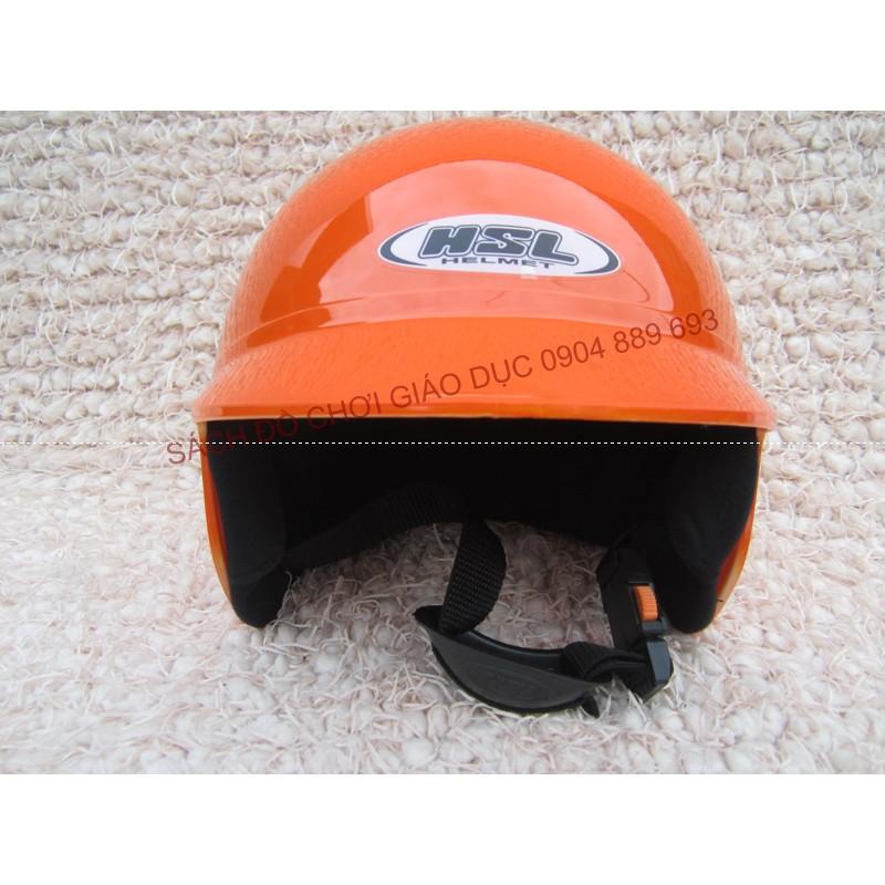 Mũ bảo hiểm cả đầu HSL trẻ em màu da cam