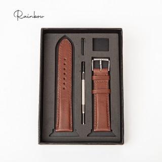 Dây da đồng hồ chất liệu da Vachetta nhập khẩu cao cấp Rainbow WTR001, sang trọng và đẳng cấp
