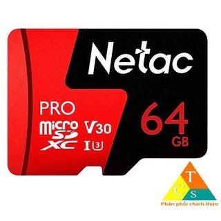 Thẻ nhớ MicroSD 64Gb Netac U3 Pro 100Mb/s