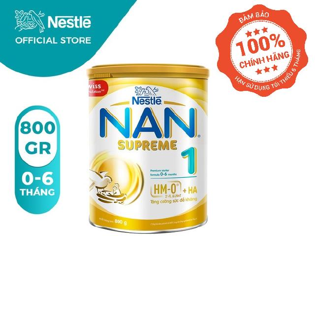 Sữa Bột Nestlé NAN SUPREME 1 – Hộp 800gram