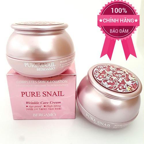Kem dưỡng da ngừa lão hóa Bergamo Pure Snail Wrinkle Care Cream 50gr