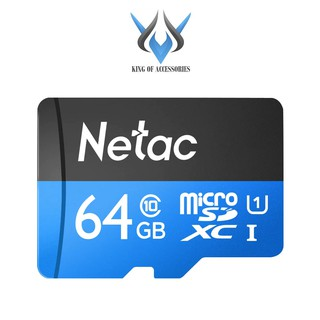 [Mã ELFLASH5 giảm 20K đơn 50K] Thẻ nhớ MicroSDXC Netac C10 UHS-I U1 64GB 80MB/s (Đen)