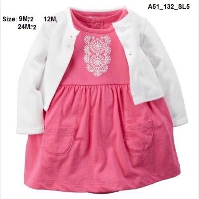 Set váy Carter 2 chi tiết cho bé gái
