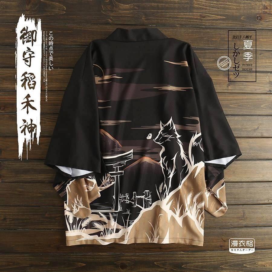 Áo Haori Sói Sakura Siêu Chất , hàng cao cấp, mã SK12