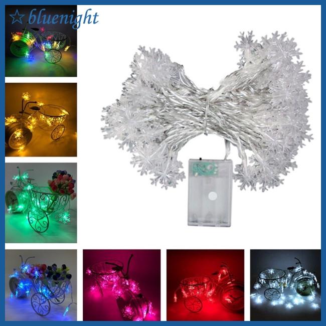 Đèn LED dây dài 6 mét hình bông tuyết trang trí giáng sinh