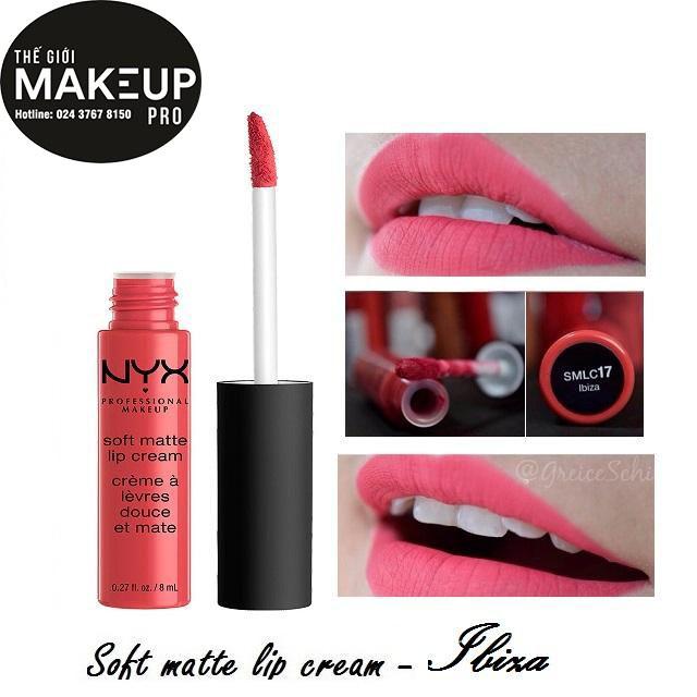 Son kem NYX Soft Matte Lip Cream Ibiza SMLC17 - 3528036 , 670604293 , 322_670604293 , 230000 , Son-kem-NYX-Soft-Matte-Lip-Cream-Ibiza-SMLC17-322_670604293 , shopee.vn , Son kem NYX Soft Matte Lip Cream Ibiza SMLC17