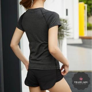 (Bobby Shop) Áo Thun Phông Ngắn Tay Thể Thao Nữ DFT (Đồ Tập Gym,Yoga) (Không quần) – Cửa hàng Việt Nam