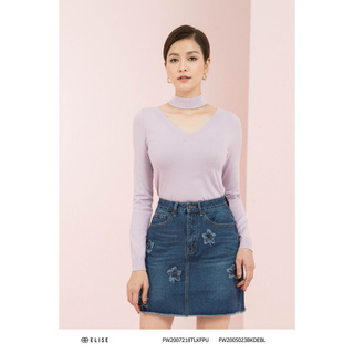 Chân váy jeans xanh rua gấu Elise thumbnail