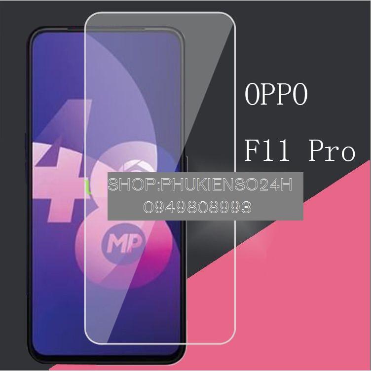 kính cường lực OPPO F11 Pro chống vỡ, chống xước(trong suốt) tặng keo chống  hở mép