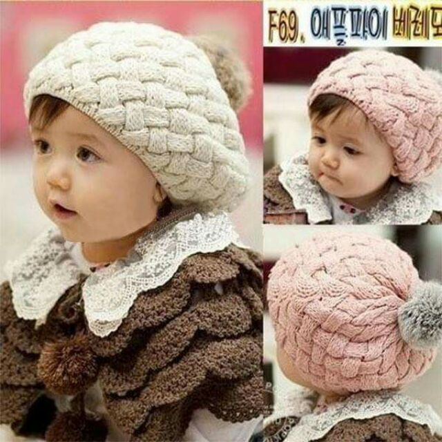 Mũ len bánh tiêu cho bé - 2705754 , 548972846 , 322_548972846 , 60000 , Mu-len-banh-tieu-cho-be-322_548972846 , shopee.vn , Mũ len bánh tiêu cho bé