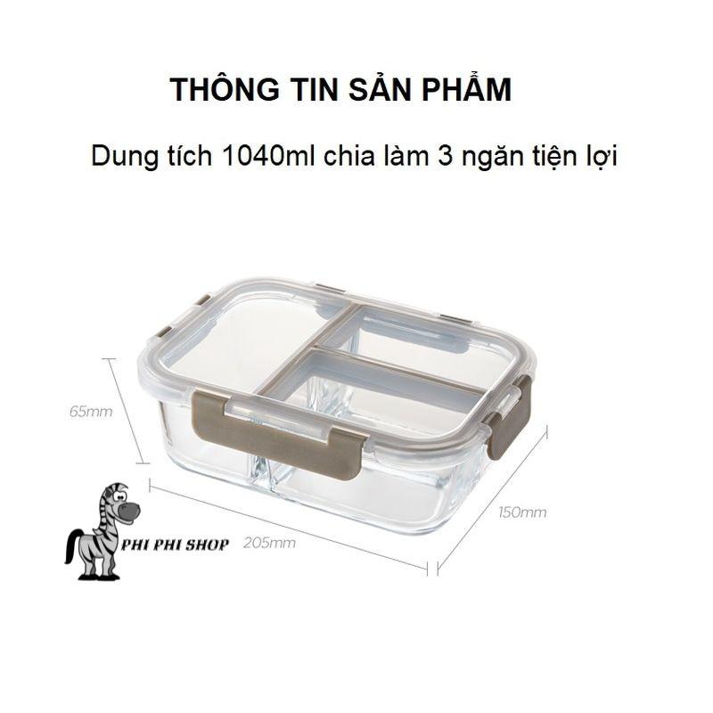 Hộp thủy tinh chia ngăn Lock&Lock Glass Food Container dung tích từ 860ml đến 1040ml LLG458
